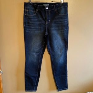 MAURICES Everflex High-Rise Skinny Jeans Size 16W